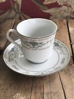 "Set of 2 Cup Saucer Vintage WADE "" DIANE"" PORCELAIN China Japan Dinnerware Table"