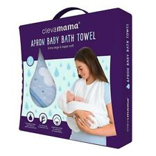 Clevamama Coton Tablier Bébé Bain Serviette (Bleu) - Compatible Pour