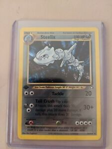 Steelix Holo Rare 15/111 Neo Genesis 1st Edition Pokemon Card