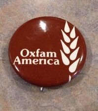 "Oxfam America Vintage Straight Pin Back 1 1/8"" Button"