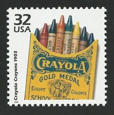First Box of Eight Colors Crayola Crayons Produced 1903 US Stamp MINT CONDITION!