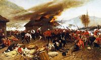 Rorkes Drift Stretched Canvas Wall Art Movie Poster Print War Zulu Battle Scene