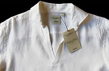 Men's MURANO White Sexy Open Neck Pure Linen Shirt XL Extra Large NEW NWT HOT!!