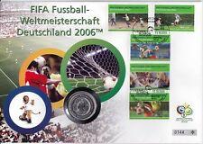 Deutschland Numisbrief 10 Euro Silber 2003 Fußball Weltmeisterschaft 2006