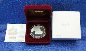 WALT DISNEY RARITIES MINT 50TH ANN COIN .999 Silver 1 OZ  BOX & COA DWARFS HAPPY
