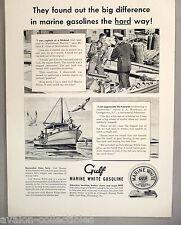 Gulf Marine White Gasoline PRINT AD - 1948 ~~ John E. Giles, Marblehead