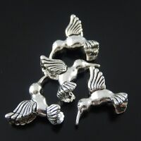 20x Antique Silver Mini Hummingbird Alloy Charms Pendants Crafts Findings 01694