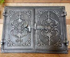 415 x 320 -Backofentur Holzofentur Ofen aus Gusseisen (f)