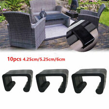 10x Furniture Clip Plastic Patio Rattan Chair SlotTerrace Sofa Connector Outdoor
