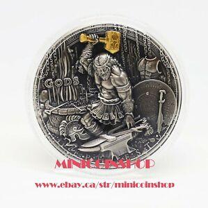 Niue 2019 Greek God Hephaestus 2oz Pure Ultra High Relief Silver Coin