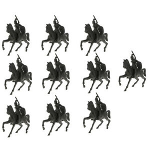 10pcs Army Base Model Plastic Toy Soldiers Army Men Accessories- Horse &