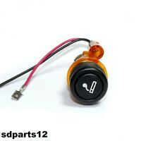 Kit Accendisigari illuminato Arancione 12v per FIAT PANDA PUNTO BRAVO 29mm