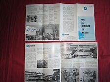 """N°4585  /  dépliant """"Que es chrysler de mexico""""   mai 1973"""