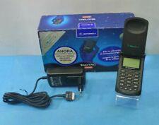 TELEFONO MOVIL MOTOROLA STARTAC 70 ORIGINAL GSM CAJA CARGADOR NEGRO RETRO