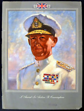 AMIRAL de la flotte Sir Andrew B. Cunningham 1945 UK Poster un