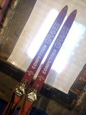 Vintage Graves Competition SL race skis size 200 w/ Salomon bindings
