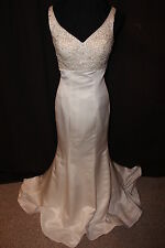 "NWT size 4 Jalis Bridal Ivory ""JEWEL"" trumpet style bridal gown wedding dress"