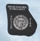 """Harlem Dept of Public Safety Patch - Georgia  Police / Fire  - 4 1/2"""" x 4 3/4"""""""