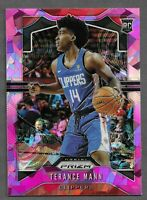 2019-20 Panini Prizm #296 Terance Mann Pink Ice RC Rookie LA Clippers!! $$$