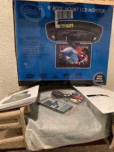 "Forj  16:9"" TFT LCD Car Roof Mount Flip Down DVD Monitor/ DVD -Black"