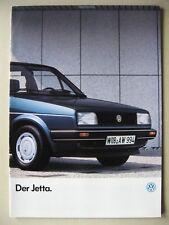 Prospekt VW Jetta 2 CL GL Carat GT 112 PS GTD II ohne Kat Modelle 1986 deutsch