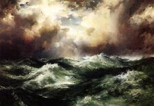 ZOPT452 big sea wave ocean seascape hand painted oil painting decor art canvas