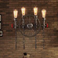 SALE LED retro Wandleuchte Loft industrielle Wandlampe mit E27 Fassung und Rad