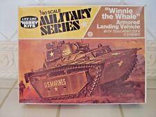 "Life Like Hobby Kits VINTAGE ""Winnie the Whale"" Armored Landing Vehicle Kit 1/40"