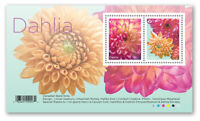 Pre-Order 2020 Canada Dahlias Souvenir Sheet Of 2 Stamps Flowers