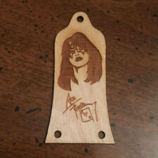 GUITAR TRUSS ROD COVER - Wood Burned - Fits EPIPHONE EPI - ACE FREHLEY KISS