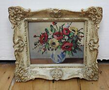 More details for vintage original miniature floral still life framed painting 2 / 3 valerie cerno