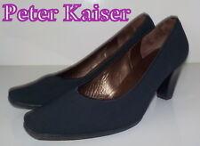 """Fabulous """"PETER KAISER"""" Black Canvas  LEATHER Court  Shoes UK 4.5  EU 37.5  £135"""