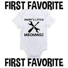 Daddy's Little Mechanic Baby Onesie Shirt Shower Gift Newborn Clothes Gerber
