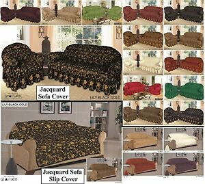 Jacquard Sofa Cover & Slip Cover for 1, 2 & 3 Seater  / Alternate to Sofa Throw