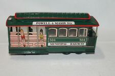 VINTAGE SAN FRANCISCO CABLE CAR TOY, MUNICIPAL RAILWAY #504 BAY & TAYLOR STS.
