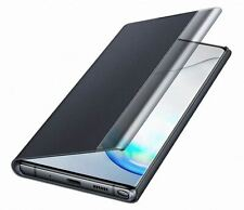 NEW GENUINE SAMSUNG GALAXY NOTE 10+ CLEAR VIEW STANDING FLIP COVER CASE - BLACK