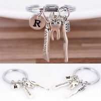 Dentist Key Ring Toothpaste Tooth Toothbrush Dental Hygienist Initial Key Chain·