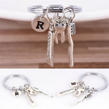 Dentist Key Ring Toothpaste Tooth Toothbrush Dental Hygienist Initial Key Cha QZ