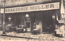 CPA 84 AVIGNON BRASSERIE MULLER HOTEL D'ORIENT OMNIBUS A TOUS LES TRAINS (dos no