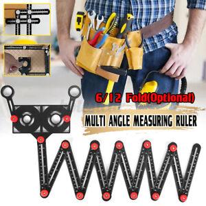 Multi Angle Template Measuring Ruler Aluminum DIY Tile Flooring Position Tool