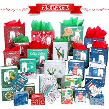 Christmas Gift Packaging Treat Bags 28PCS Durable Colorful Party Supplies UNOMOR