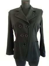 Paul Smith Lady Leigh Damen Blazer Jacke Sweatblazer Tailliert Schwarz Dt. 38/40