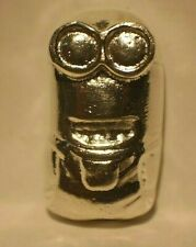 1.02 TROY Ounce Hand Poured SILVER MINION .999 Fine Silver