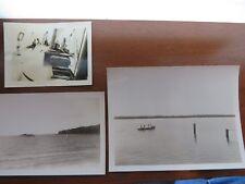 Vintage Film Negatives Prints Lot of 17 Pleasure Boats Docks People 1930s  #8993