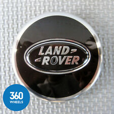 1 x NEW GENUINE LAND ROVER ALLOY WHEEL CENTRE CAPS BLACK RANGE LR044717