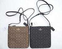 COACH Bag Crossbody Signature Shoulder Purse 58421 Outline NS Black Brown NEW