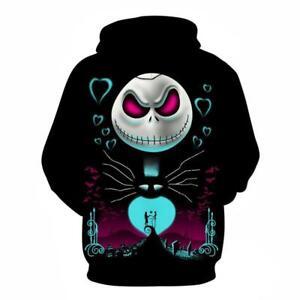 Nightmare before Christmas Jack Sally printed Pullover Pocket Hoodies AsiaM-6XL