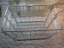 Vintage WALD Metal Rear Folding Bike Bicycle Basket No. 582 Silver
