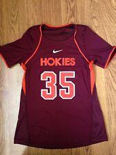 Nike Virginia Tech Hokies Womens Lacrosse #35 Stitched Maroon Game Worn Jersey