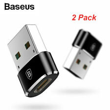 2 Pack Baseus USB C Female to USB Male Adapter for iPhone 11 Pro Max Airpod iPad